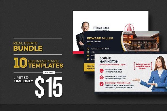 10 Real Estate Business Card Bundle