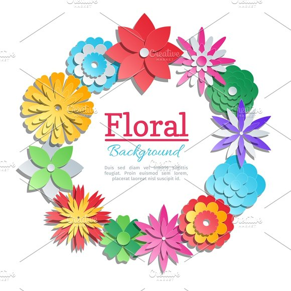 Origami flowers invitation card illustrations creative market origami flowers invitation card illustrations mightylinksfo