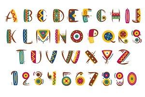 Primitive mexican font