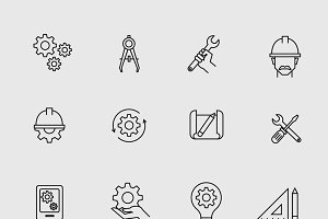 Engineering simple icons