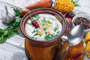 Cream soup of corn