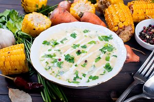 Corn cream soup