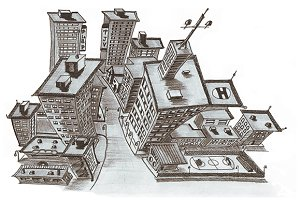 City of New York. Isometric quarter