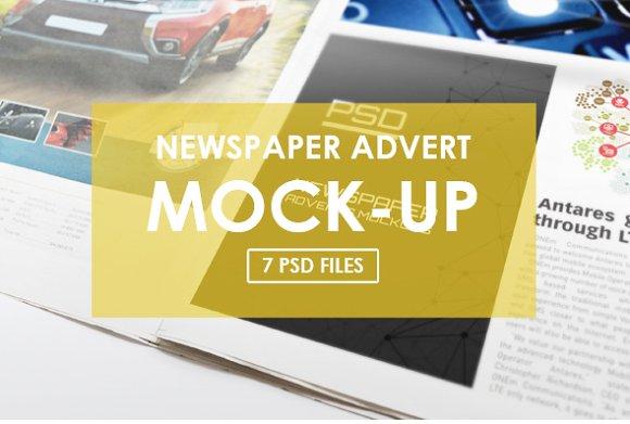 Free Newspaper Adverts Mockups