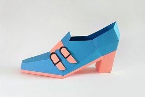 DIY Trouser shoe - 3d papercraft