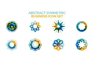 Set of vector abstract shapes