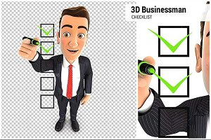 3D Businessman Checklist