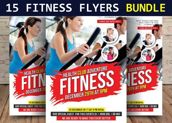 15 Fitness Flyers Bundle