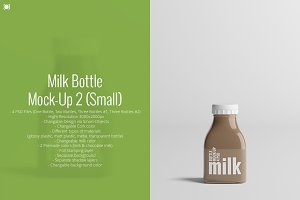 Milk Bottle Mock-Up 2 (Small)