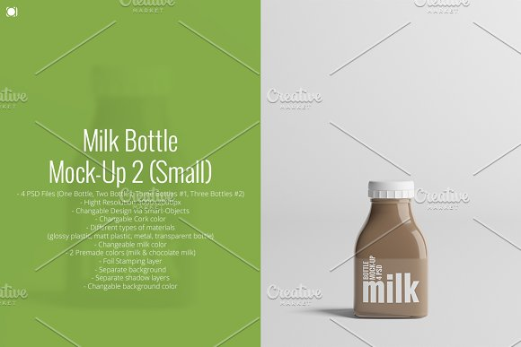Download Milk Bottle Mock-Up 2 (Small)