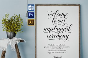 Unplugged wedding sign Wpc358