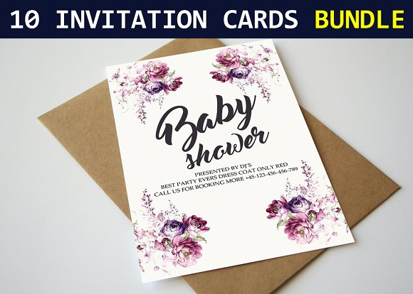10 Baby Shower Invitation Cards
