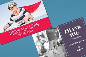 Thank You Card With Granny Mockup