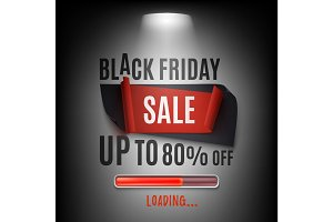Black friday sale banner. Abstract design.