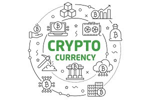 circle illustration bitcoin crypto innovations business
