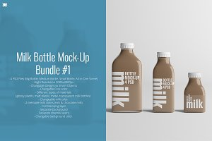 [-33%] Milk Bottle Mock-Up Bundle #1