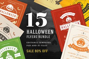 15 Halloween Flyers Templates