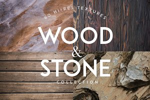 Wood and Stone Textures Backgrounds