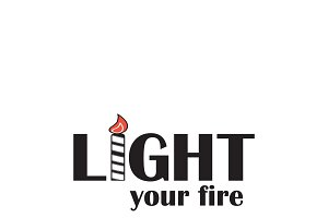 Light your fire quote illustration