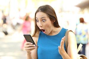 Woman receiving shocking news