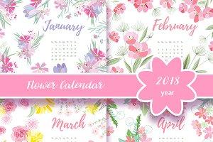 №256 Flower Calendar 2018 year