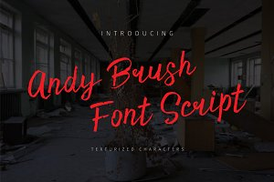 Andy Brush Font Script