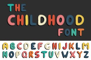 Сolor child alphabet. Funny letters