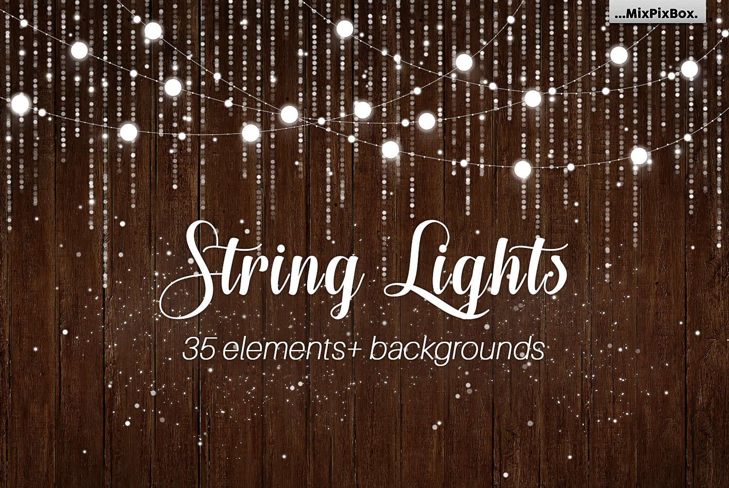 String Lights V3 Clipart Backgrounds Illustrations Creative Market