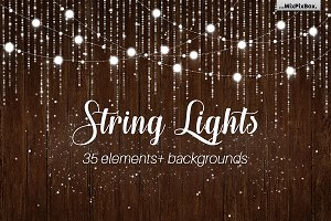 String Lights v3 clipart+backgrounds