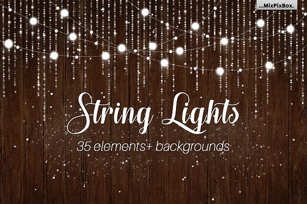 String Lights v3 clipart+background…