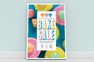 Bake Sale Poster Mockup