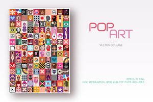 Pop Art vector collage