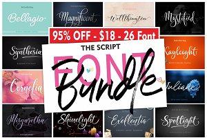 The Script FONT BUNDLE - 95% OFF