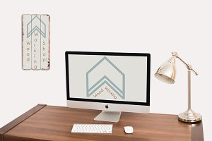Desktop Imac and Iphone Mockup