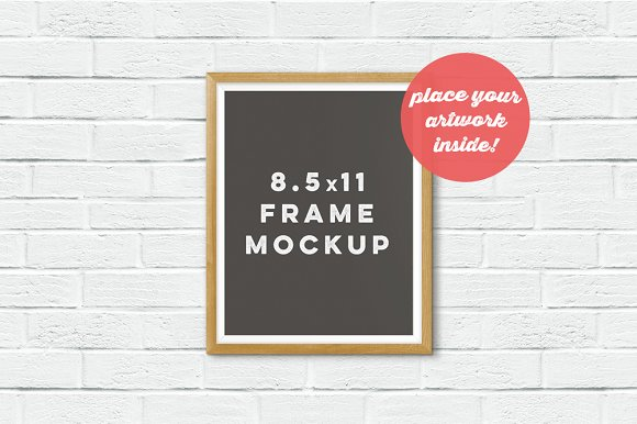 Frame Mockup On The Brick Wall Product Mockups Creative Market