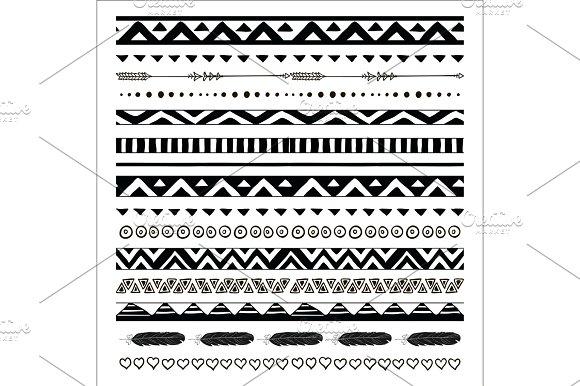 Tribal Pattern Borders