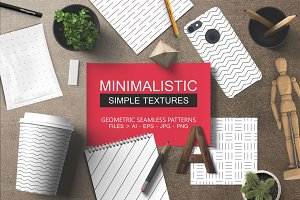 12 Minimalistic seamless patterns