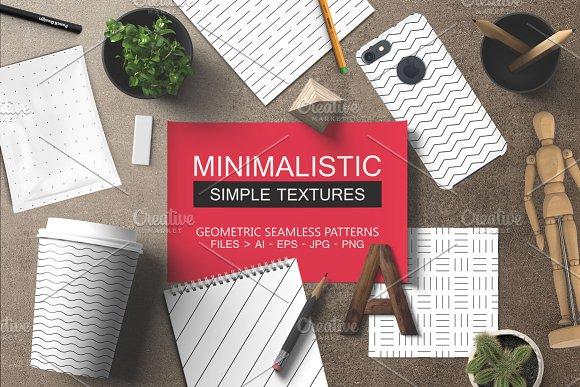 Minimalistic seamless patterns