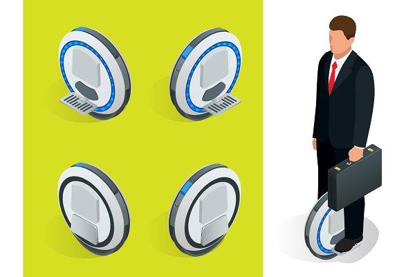 One-wheeled Self-balancing electric…
