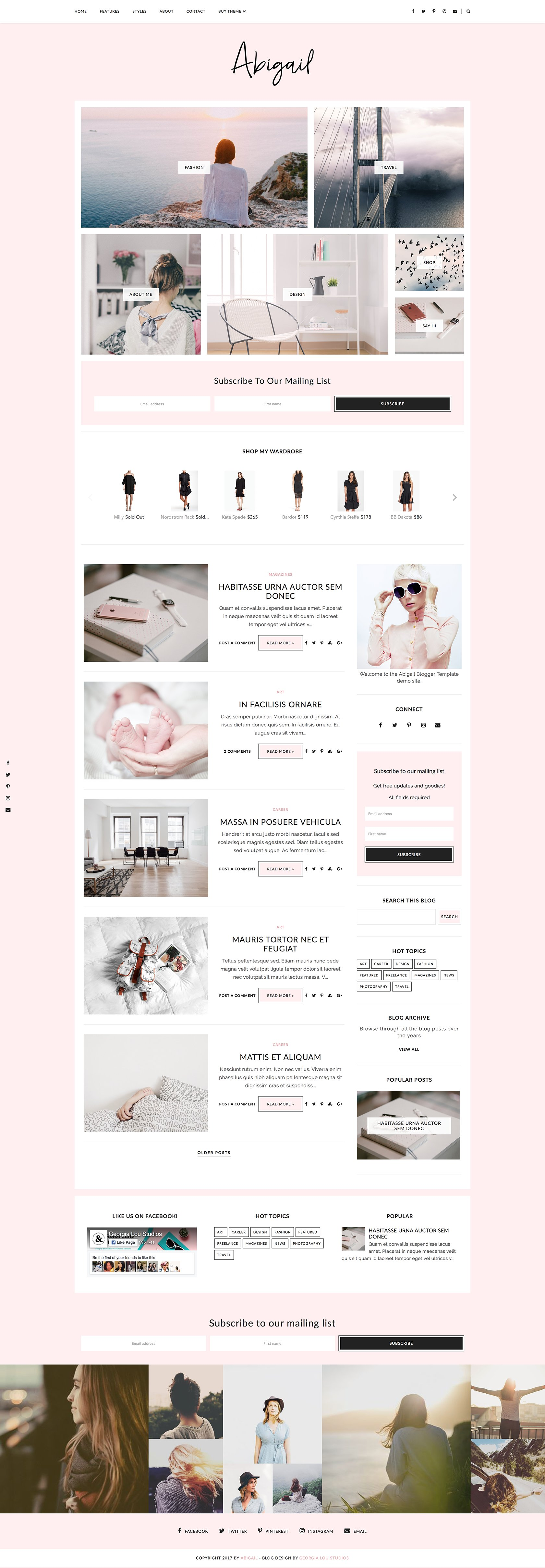 Blogger Template Responsive- Abigail ~ Website Templates ~ Creative ...