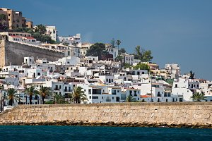 typical white houses of Ibiza