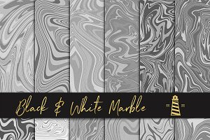 Black & White Liquid Marble Textures