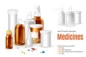 Medicines Realistic Set