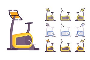 Exercise bike set
