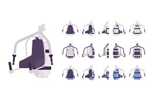 Jet pack set in white color