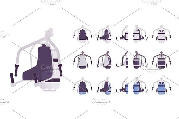 Jet Pack Set In White Color Illustrations Creative Market