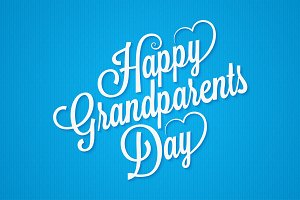 grandparents day vintage lettering