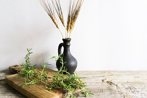 Harvest Theme Photo| Herbs & Wheat
