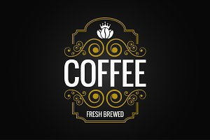 coffee logo vintage label