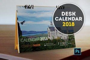 Desk Calendar (Template) 2018